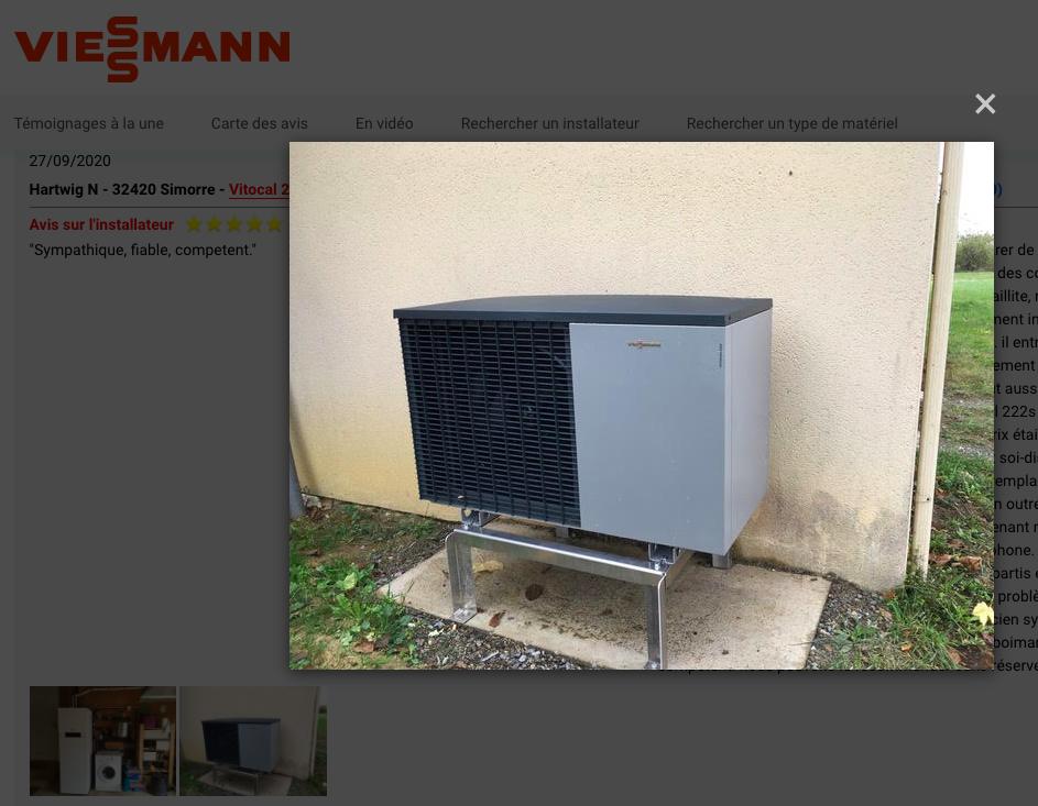 Témoignages pompes à chaleur Viessmann